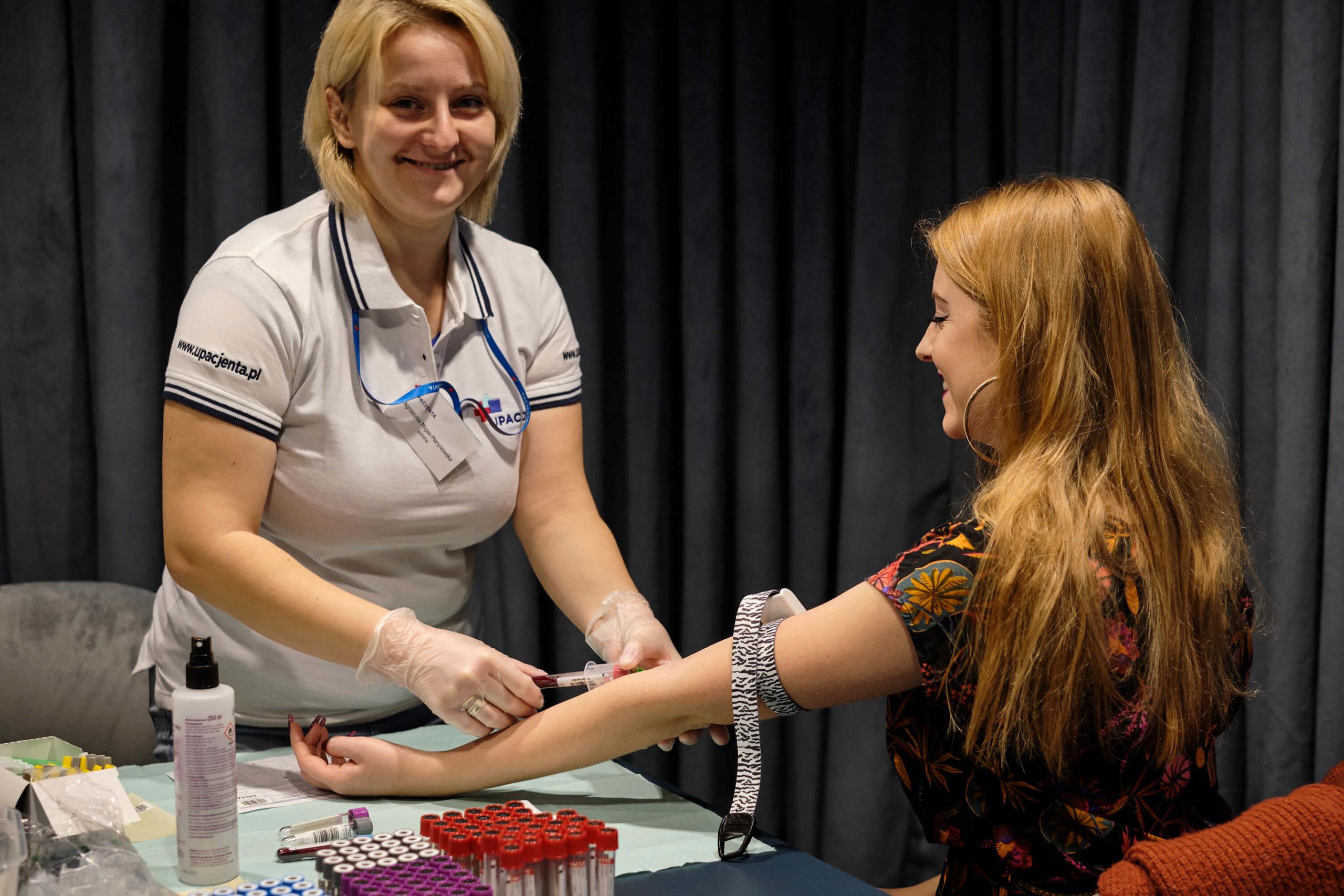 Badania krwi w biurze